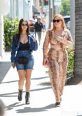 Demi Rose steps out for some shopping before lunch with a friend at Il Pastaio in Beverly Hills, Los Angeles