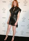 Eleanor Tomlinson attends the ELLE List VIP Party at The Petersham in London, UK