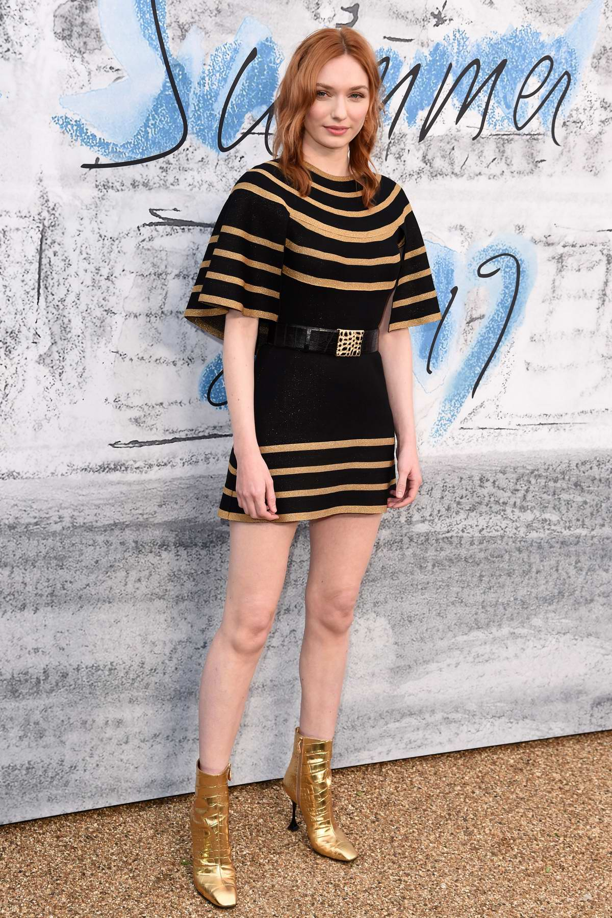 Eleanor Tomlinson attends The Summer Party 2019 at Serpentine Gallery at Kensington Gardens in London, UK