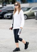 Elizabeth Olsen and Robbie Arnett seen leaving the gym after a morning workout in Los Angeles