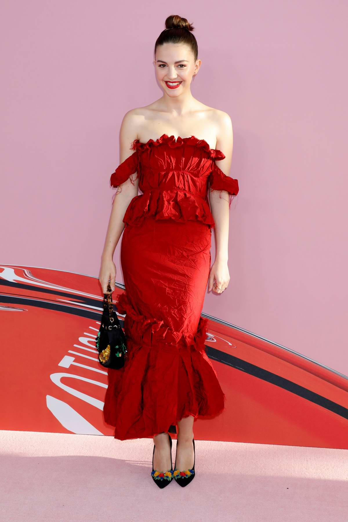 Ella Hunt attends the 2019 CFDA Fashion Awards at Brooklyn Museum in New York City