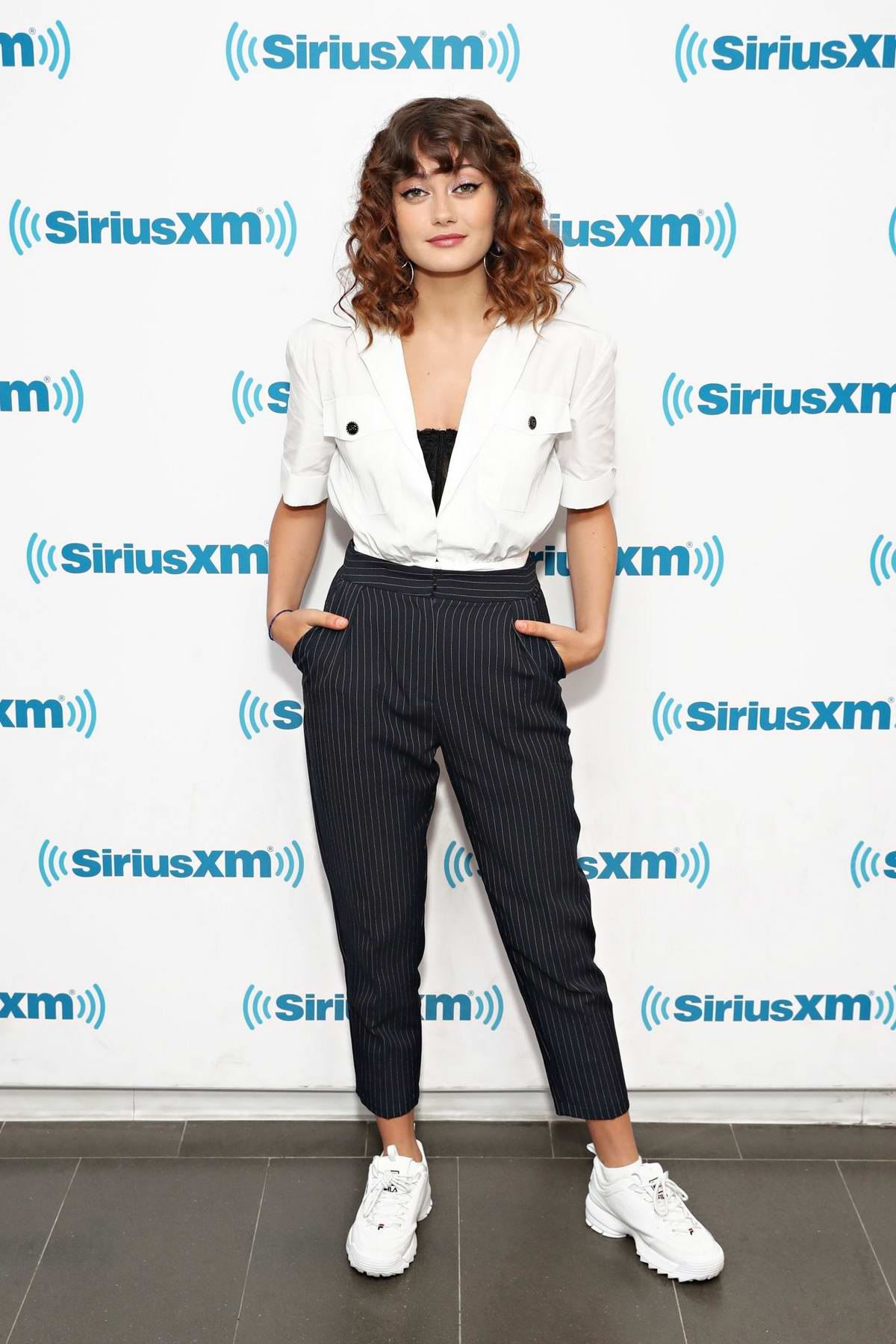 Ella Purnell visits the SiriusXM Studios in New York City