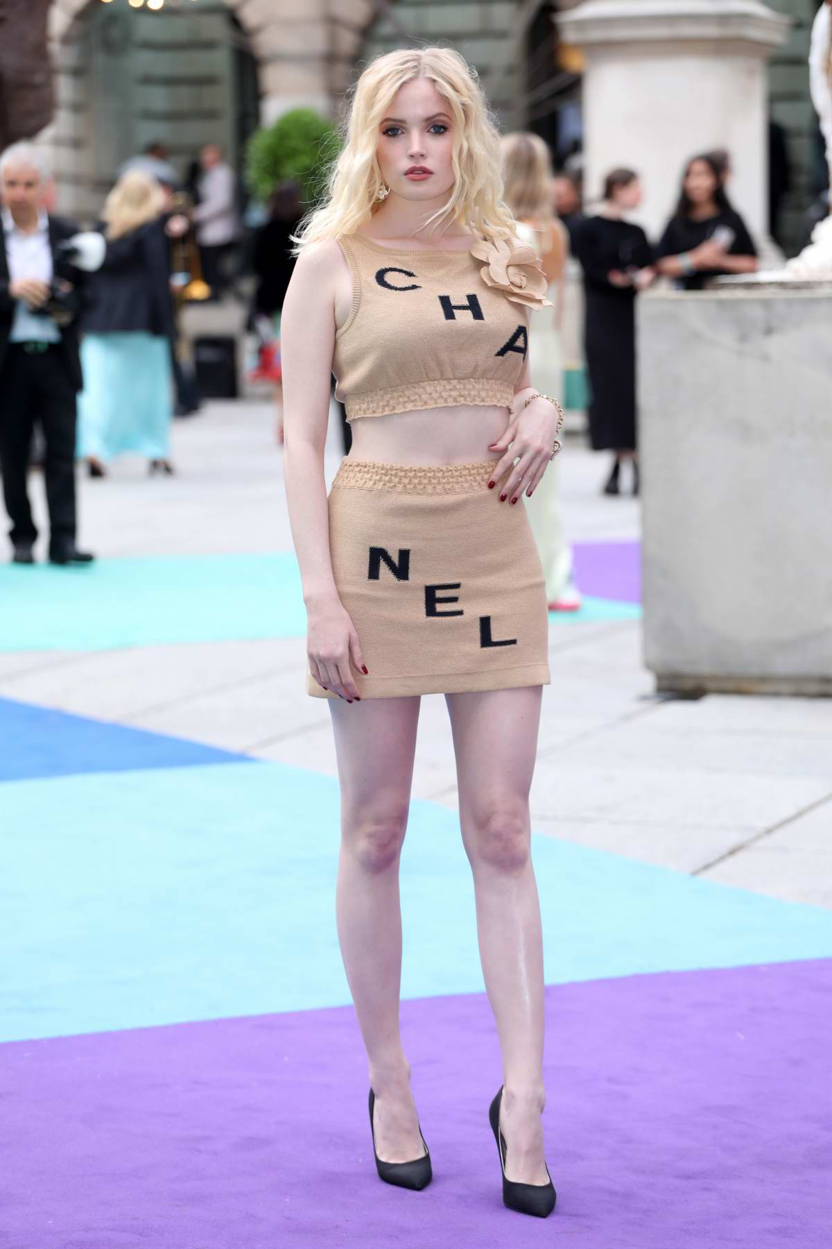 Ellie Bamber attends the Royal Academy of Arts Summer Exhibition Preview Party in London, UK