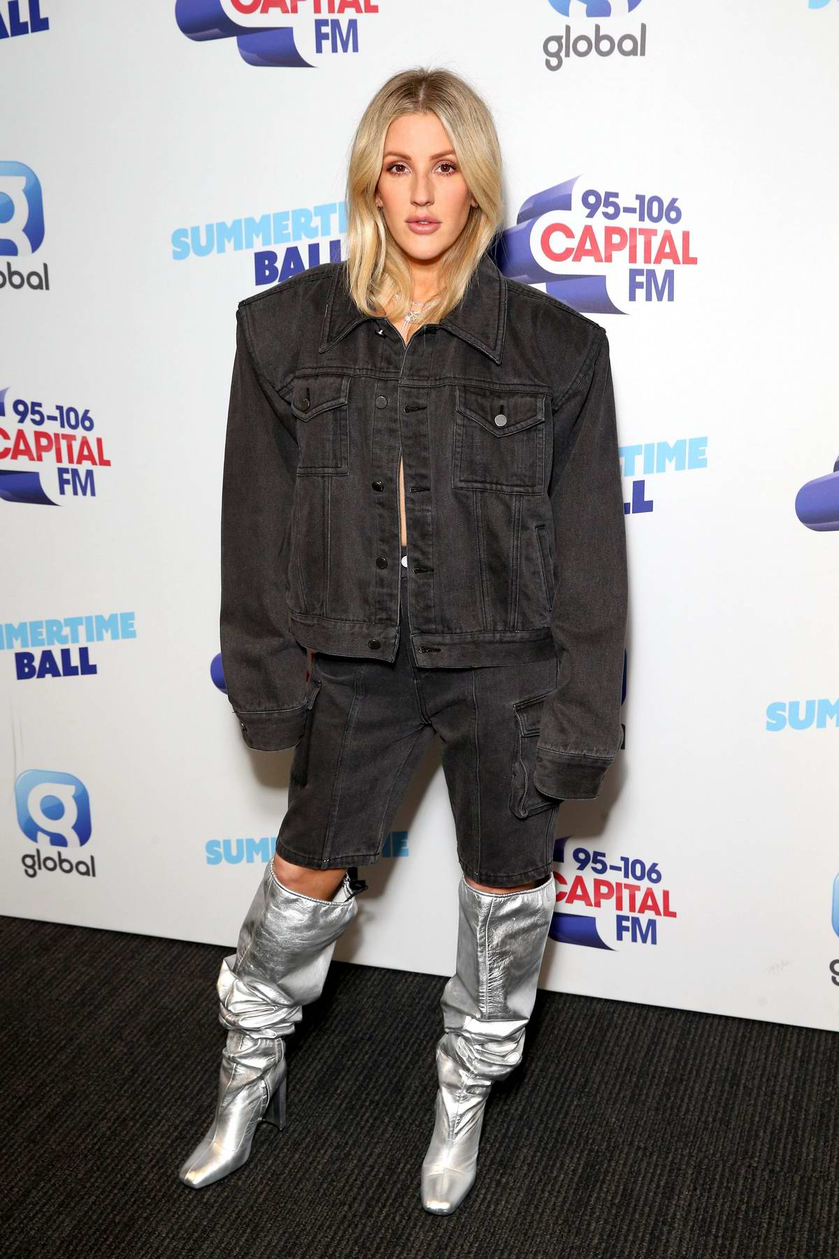 Ellie Goulding attends a photocall during 2019 Capital FM Summertime Ball at Wembley Stadium in London, UK