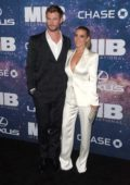 Elsa Pataky and Chris Hemsworth attend the World Premiere of 'Men in Black International' at AMC Lincoln Square in New York City