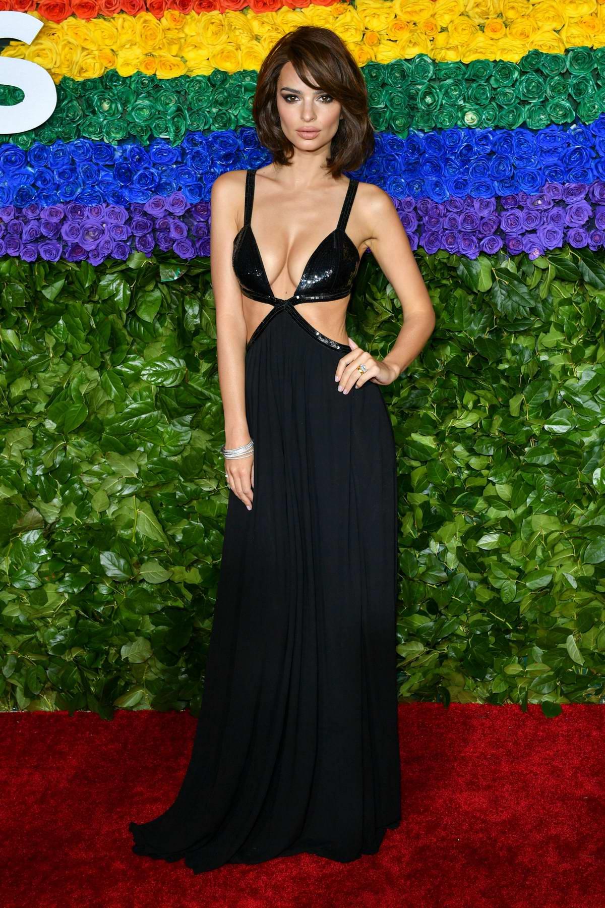 Emily Ratajkowski attends the 73rd annual Tony Awards at Radio City Music Hall in New York City