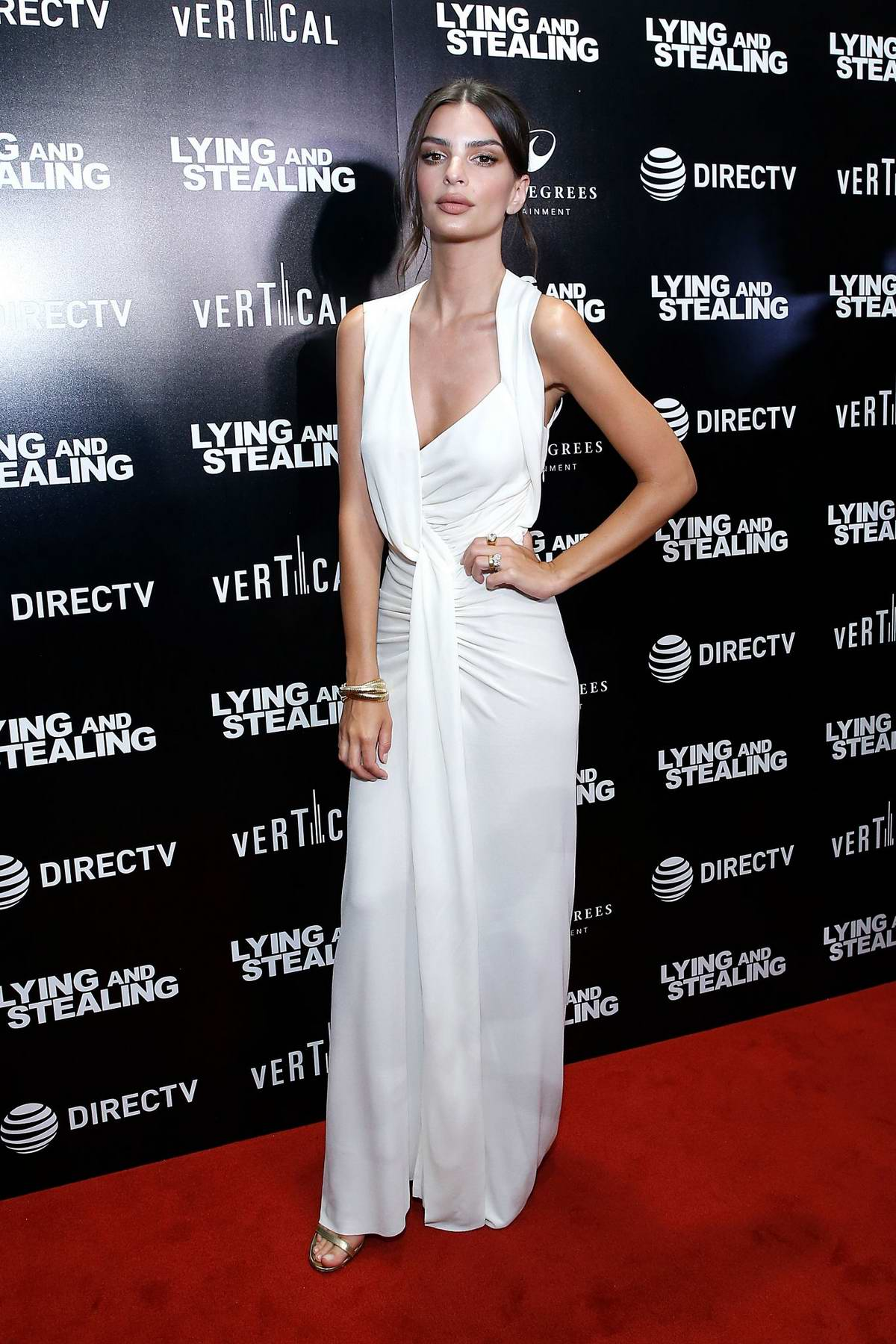 Emily Ratajkowski attends the 'Lying And Stealing' New York Screening at Cinepolis Chelsea in New York City
