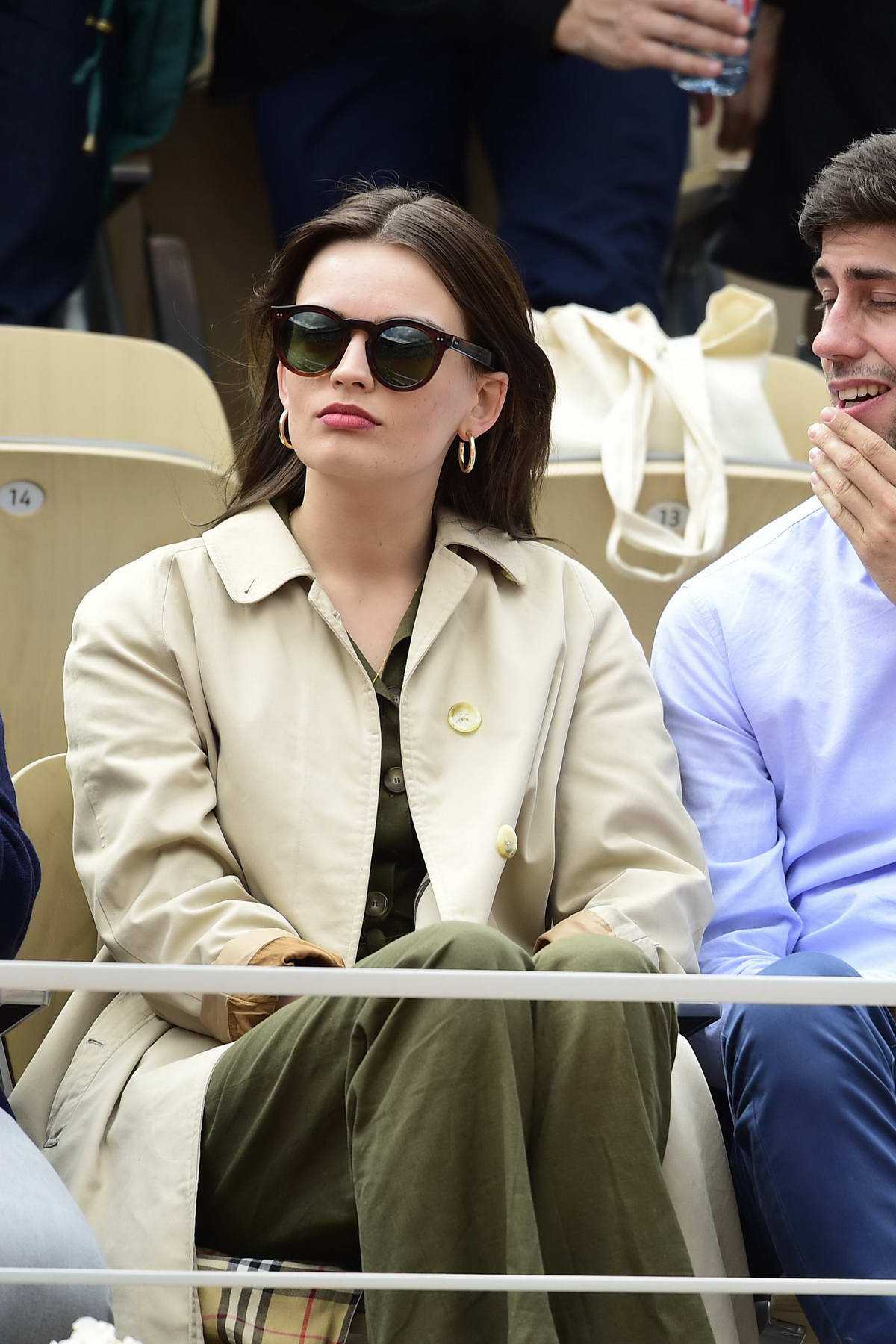 Emma Mackey spotted at the 2019 French Open at Roland-Garros in Paris, France