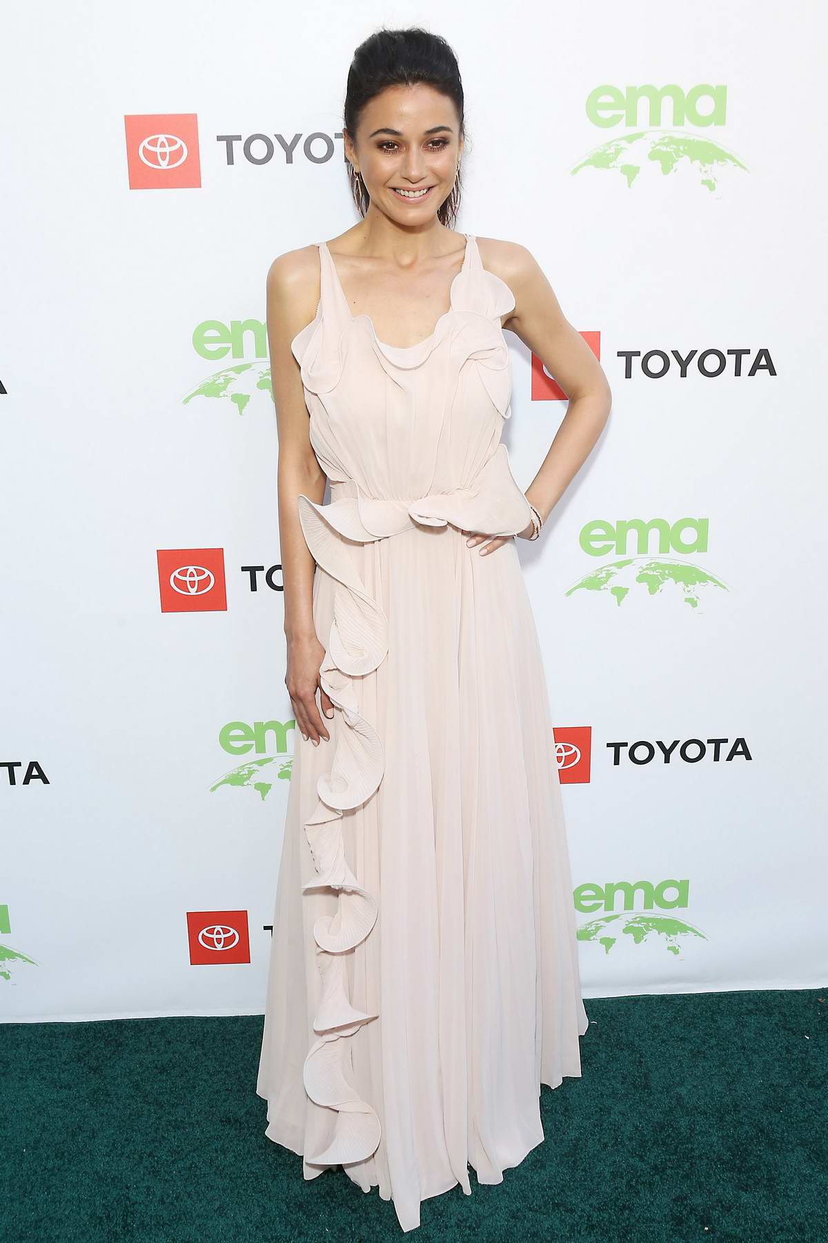 Emmanuelle Chriqui attends the 29th Annual Environmental Media Awards at The Montage Hotel in Beverly Hills, Los Angeles