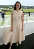 Felicity Jones attends The Royal Windsor Cup Final at Guards Polo Club in Egham, UK