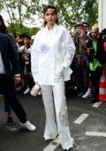Gigi Hadid attends the Louis Vuitton Menswear Spring/Summer 2020 show during Paris Fashion Week in Paris, France