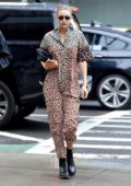 Gigi Hadid rocks a stylish patterned jumpsuit as she steps out in New York City