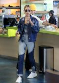 Hailey Baldwin and Justin Bieber stop in for a healthy snack at Earthbar in West Hollywood, Los Angeles