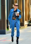 Hailey Baldwin looks stylish in double denim as she steps out in New York City