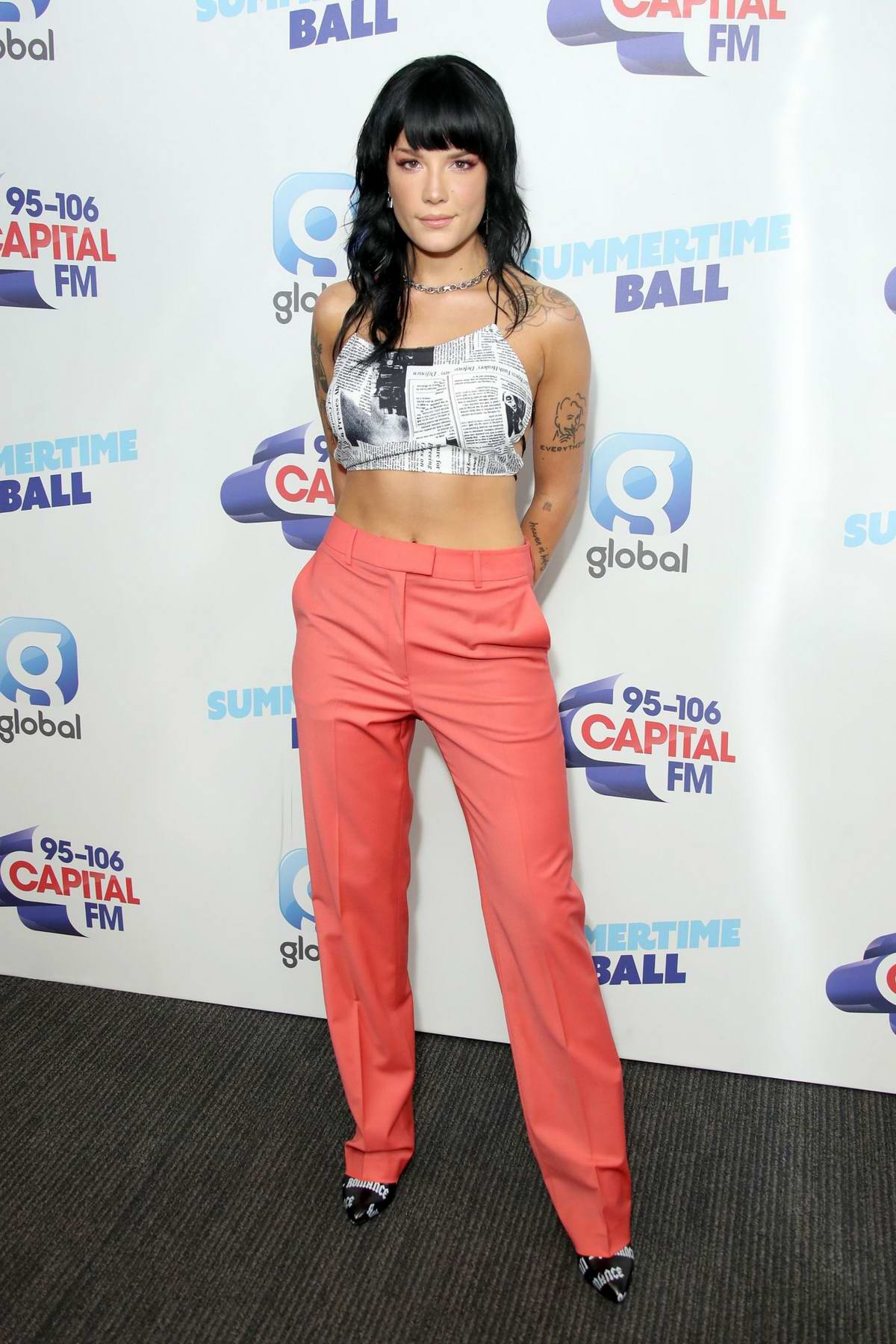 Halsey attends the 2019 Capital FM Summertime Ball at Wembley Stadium in London, UK