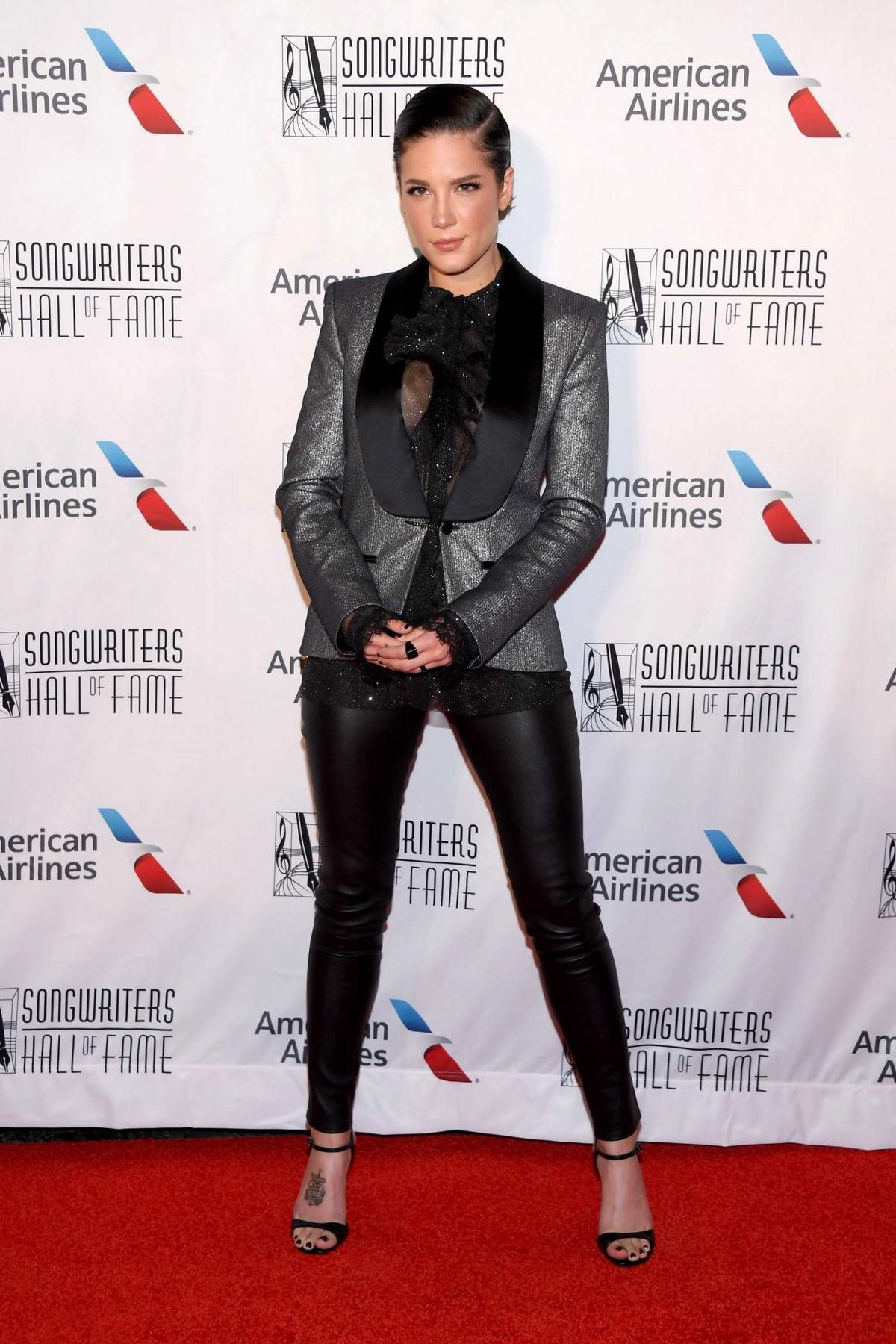 Halsey attends the 2019 Songwriters Hall Of Fame in New York City