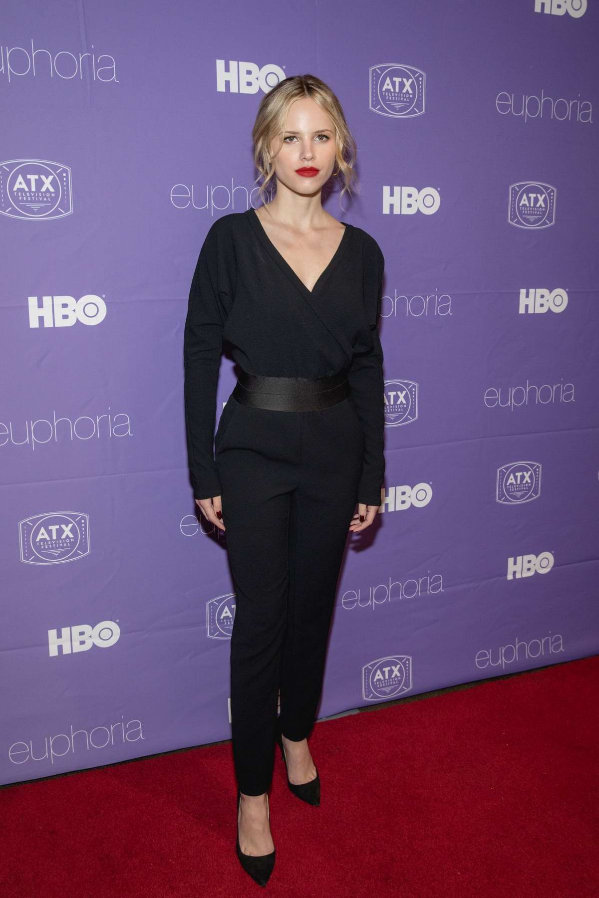 Halston Sage attends 'Prodigal Son' TV Show premiere at ATX Television Festival in Austin, Texas