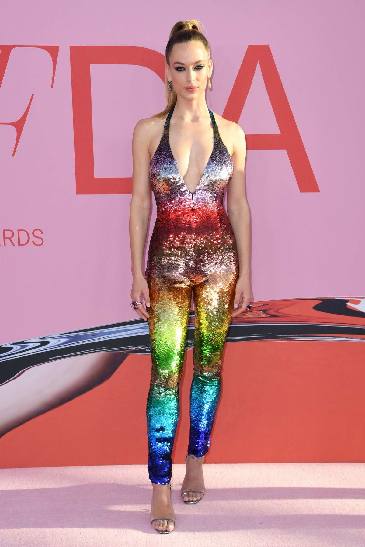 Hannah Ferguson attends the 2019 CFDA Fashion Awards at Brooklyn Museum in New York City