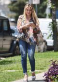 Hilary Duff looks radiant as she steps out to grab a salad from Lemonade Cafe in Los Angeles
