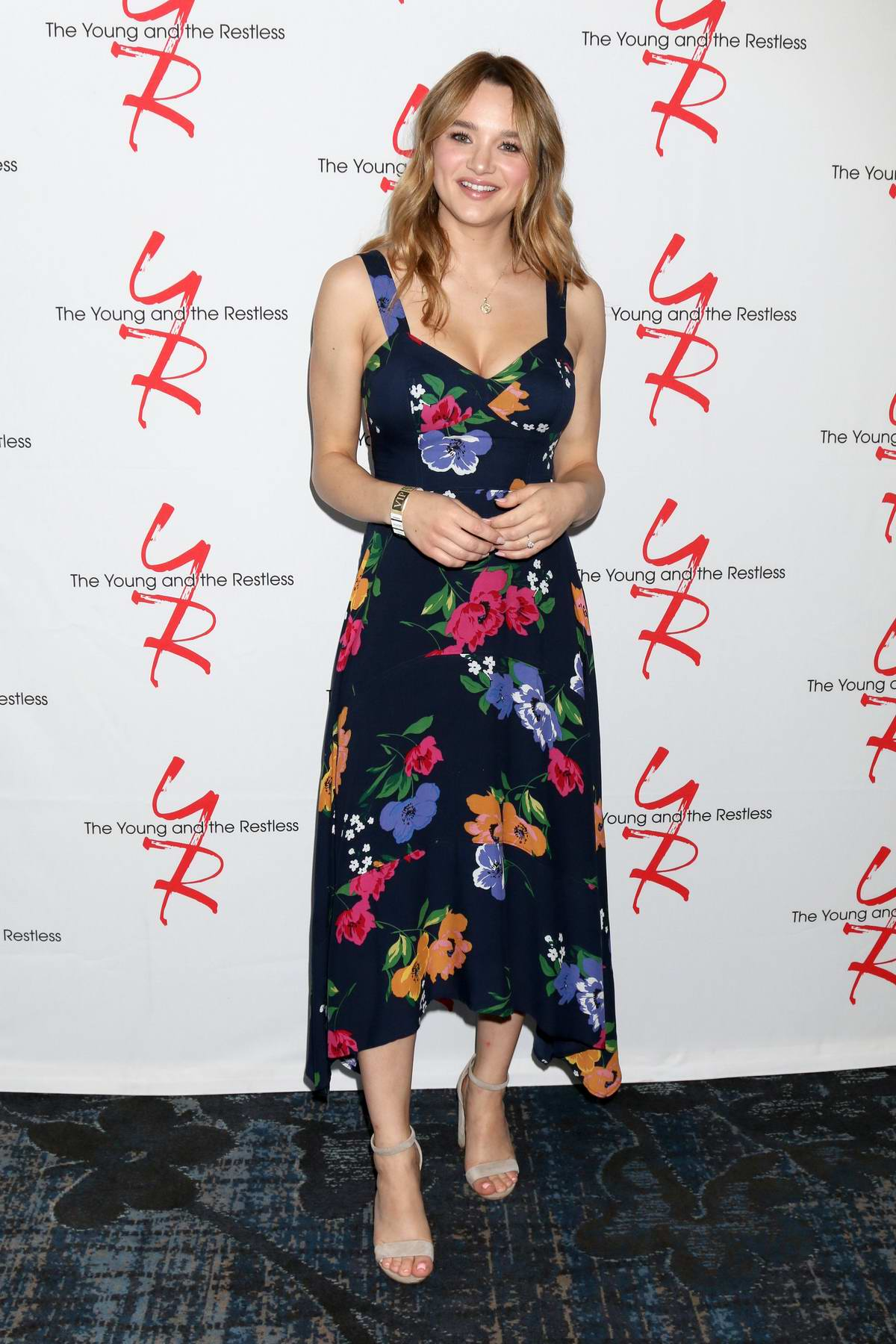 Hunter King attends 'Young and The Restless' Fan Club Luncheon in Burbank, California