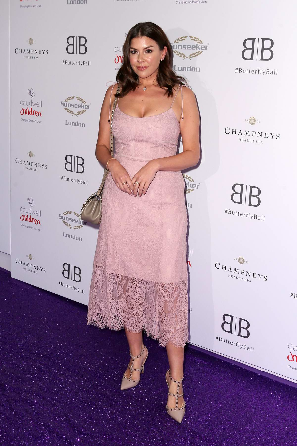 Imogen Thomas attends the Caudwell Children Butterfly Ball charity event at the Grosvenor House in London, UK