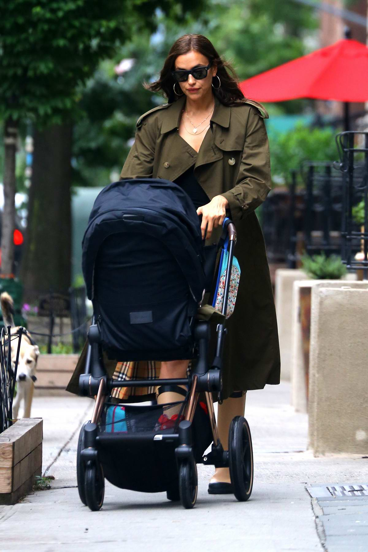 Irina Shayk takes her daughter out for stroll in New York City