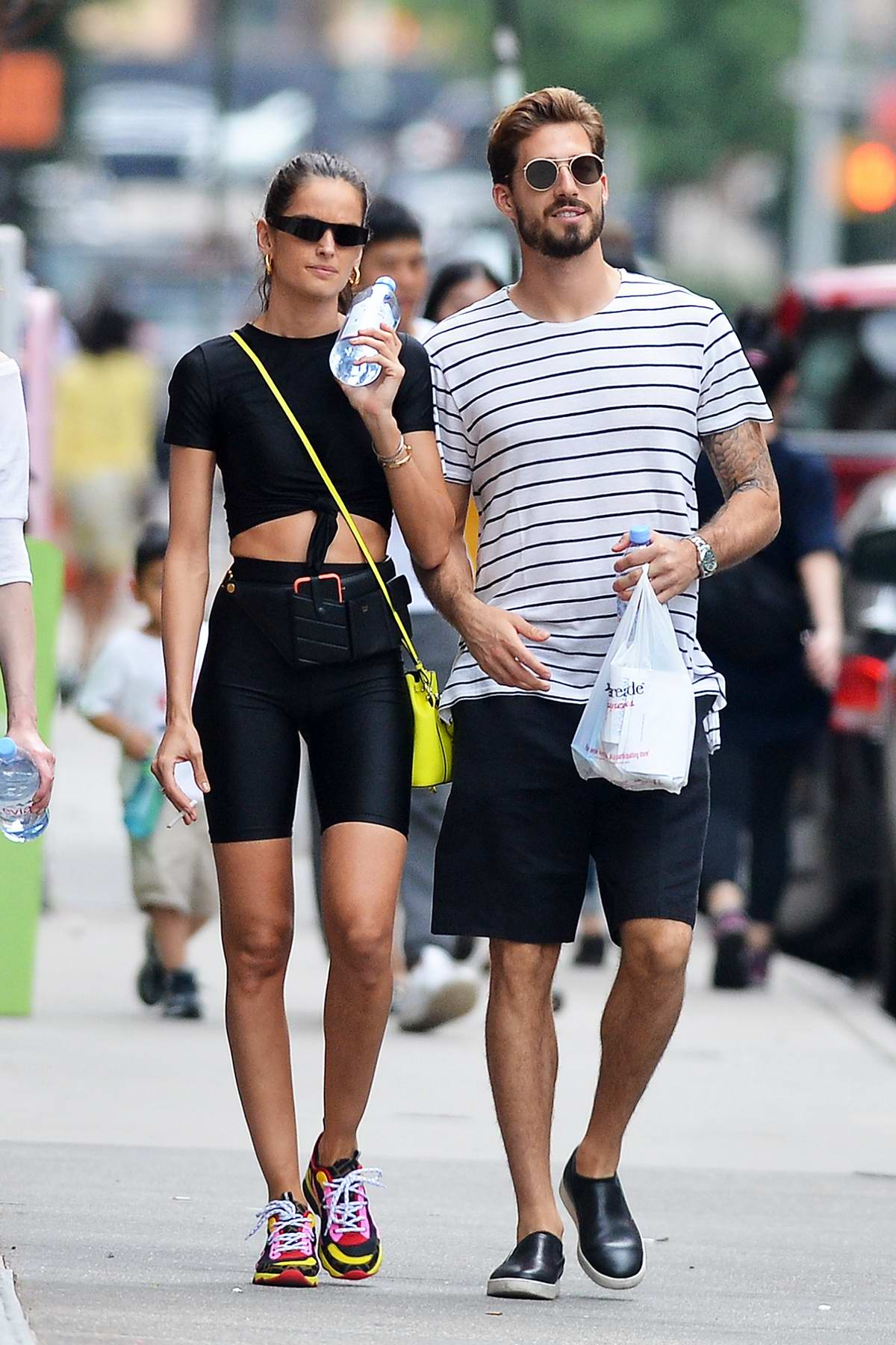 Izabel Goulart and boyfriend Kevin Trapp spotted after a workout in New York City