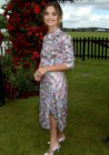Jenna Coleman attends the 2019 Cartier Queen's Cup Polo Final in Windsor, UK