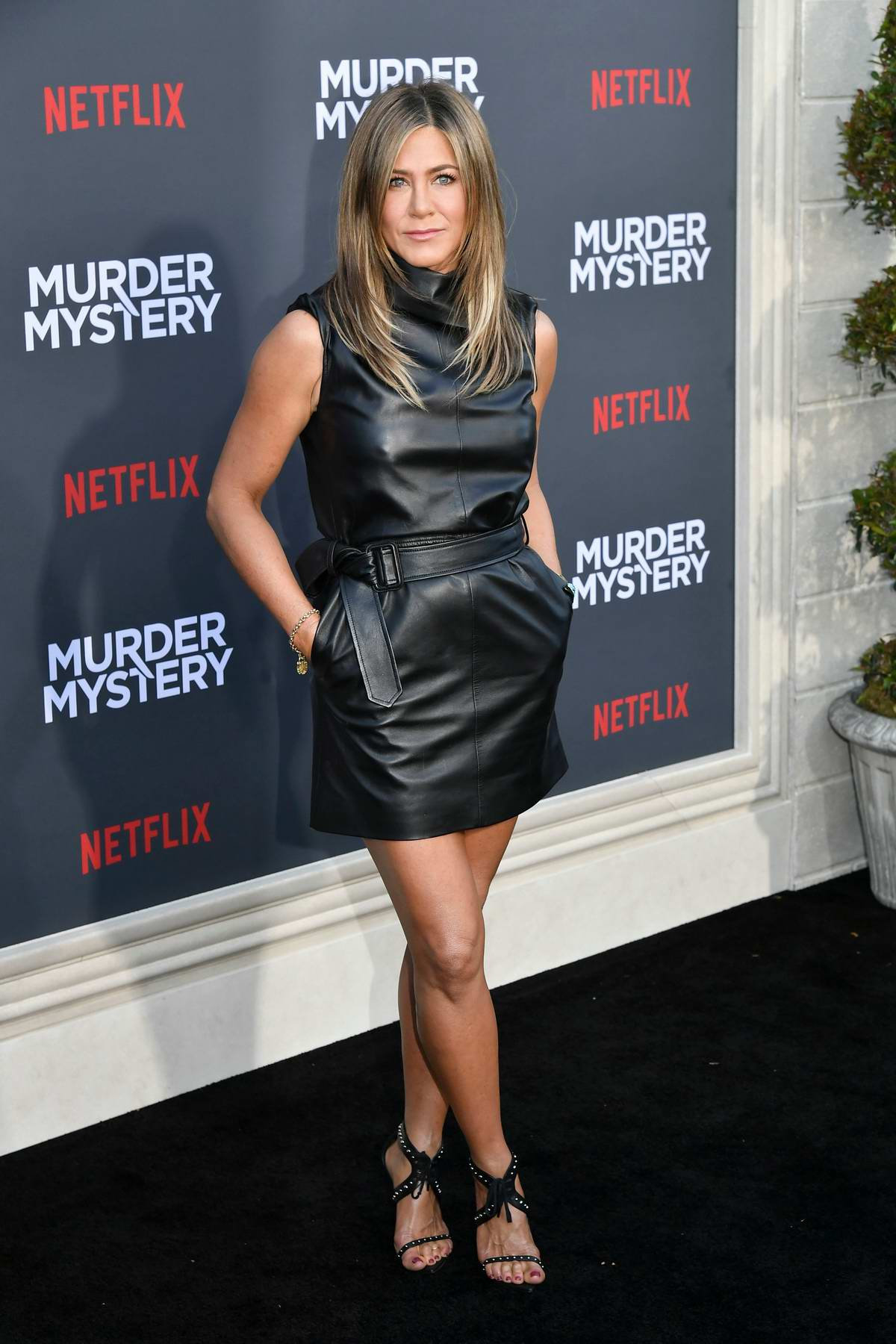 Jennifer Aniston attends the premiere of 'Murder Mystery' at Regency Village Theatre in Los Angeles