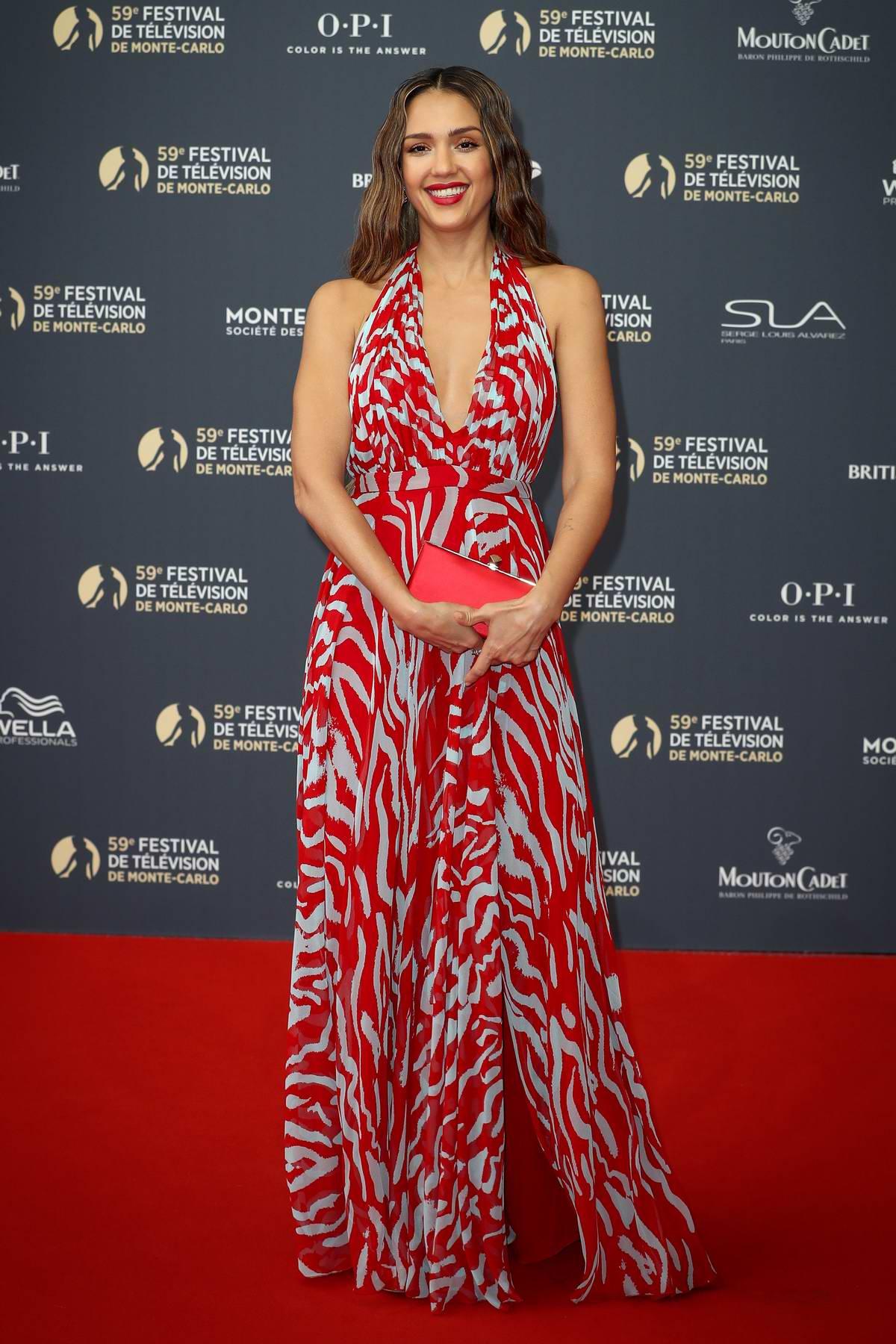 Jessica Alba attends the 59th Monte Carlo TV Festival Opening Ceremony in Monte Carlo, Monaco
