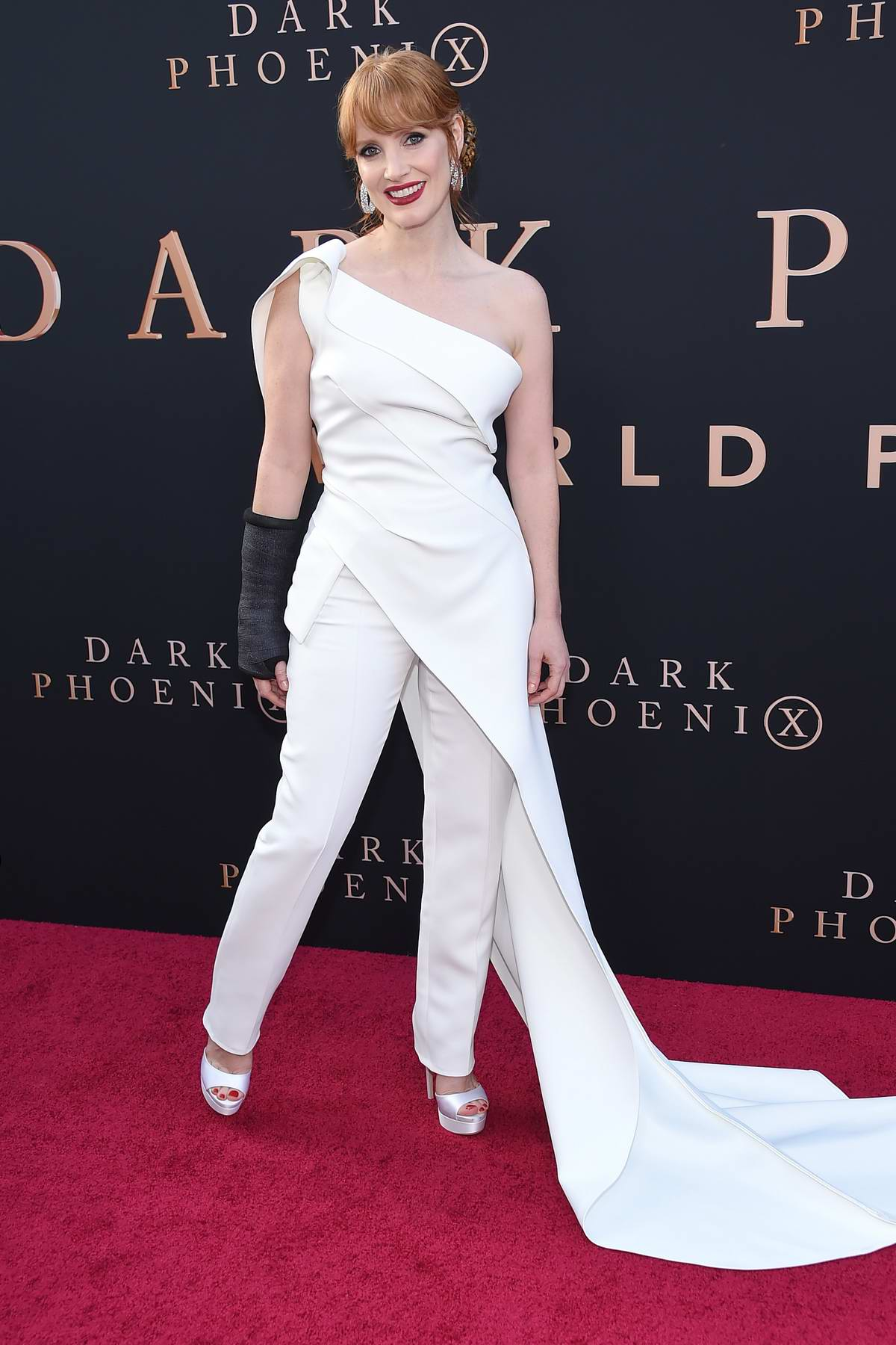 Jessica Chastain attends 'X-Men: Dark Phoenix' premiere at