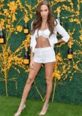 Joan Smalls attends the 12th Annual Veuve Clicquot Polo Classic in Liberty State Park, Jersey City, New Jersey