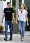 Jodie Comer stepped out with her brother in Boston, Massachusetts