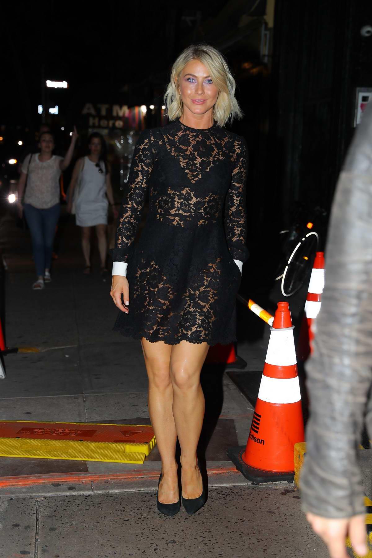 Julianne Hough Dons A Sheer Black Dress For Dinner At Raul