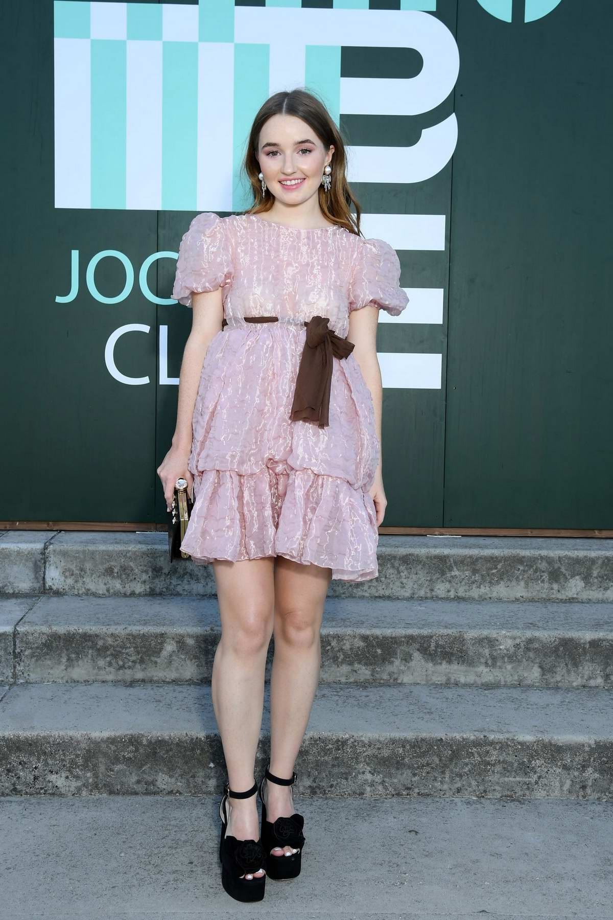Kaitlyn Dever attends Miu Miu Club event at Hippodrome d'Auteuil in Paris, France