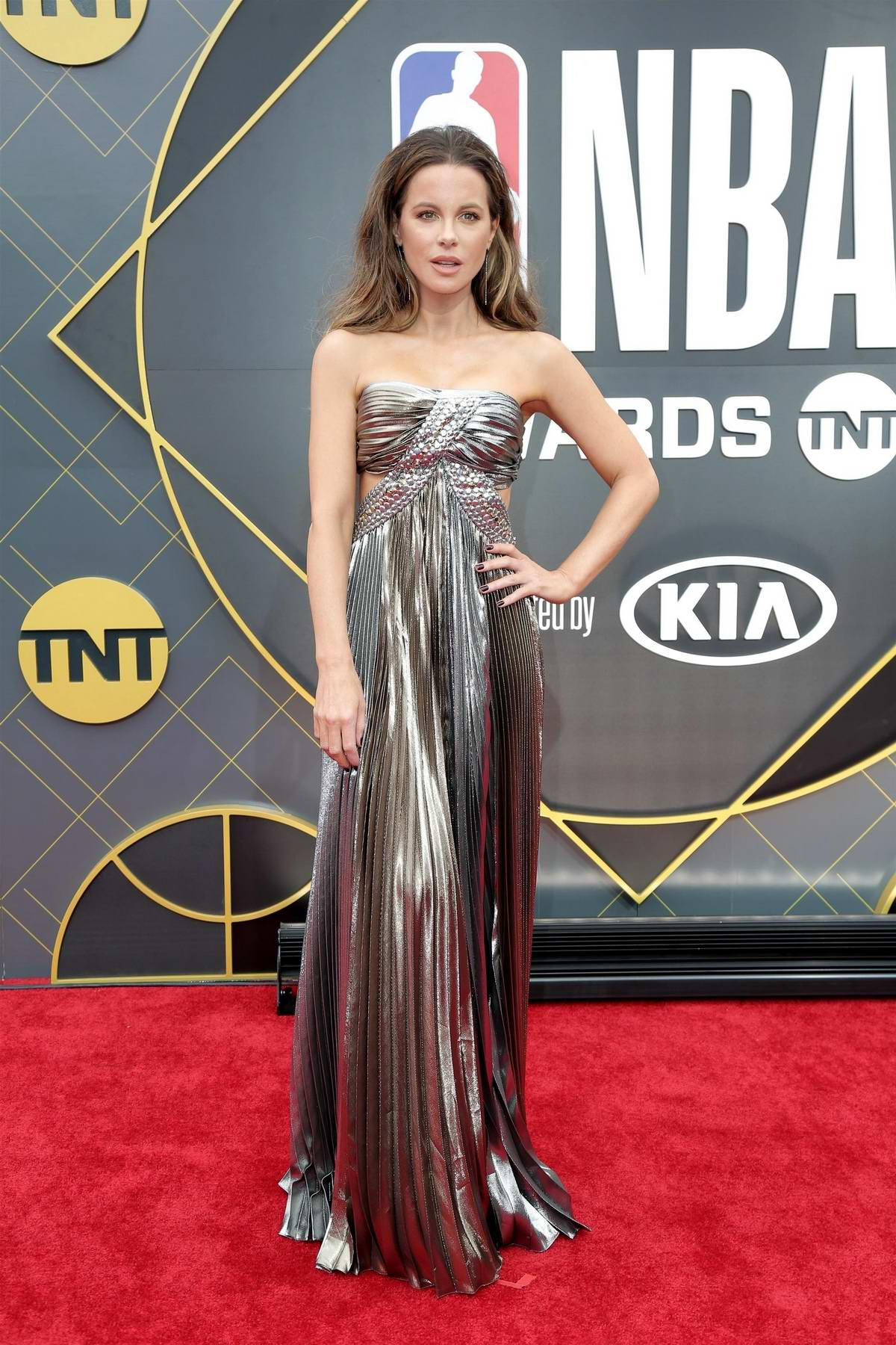 Kate Beckinsale attends the 2019 NBA Awards held at Barker Hangar in Santa Monica, California