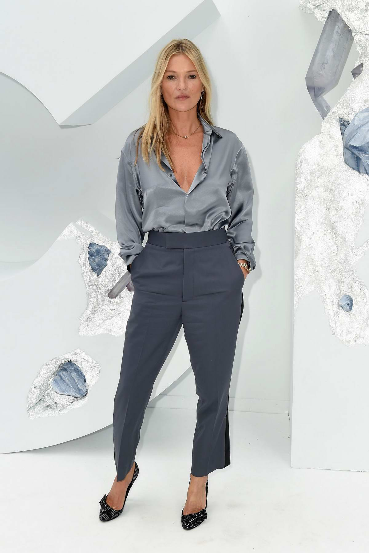 Kate Moss attends the Dior Homme Menswear Spring/Summer 2020 show during Paris Fashion Week in Paris, France