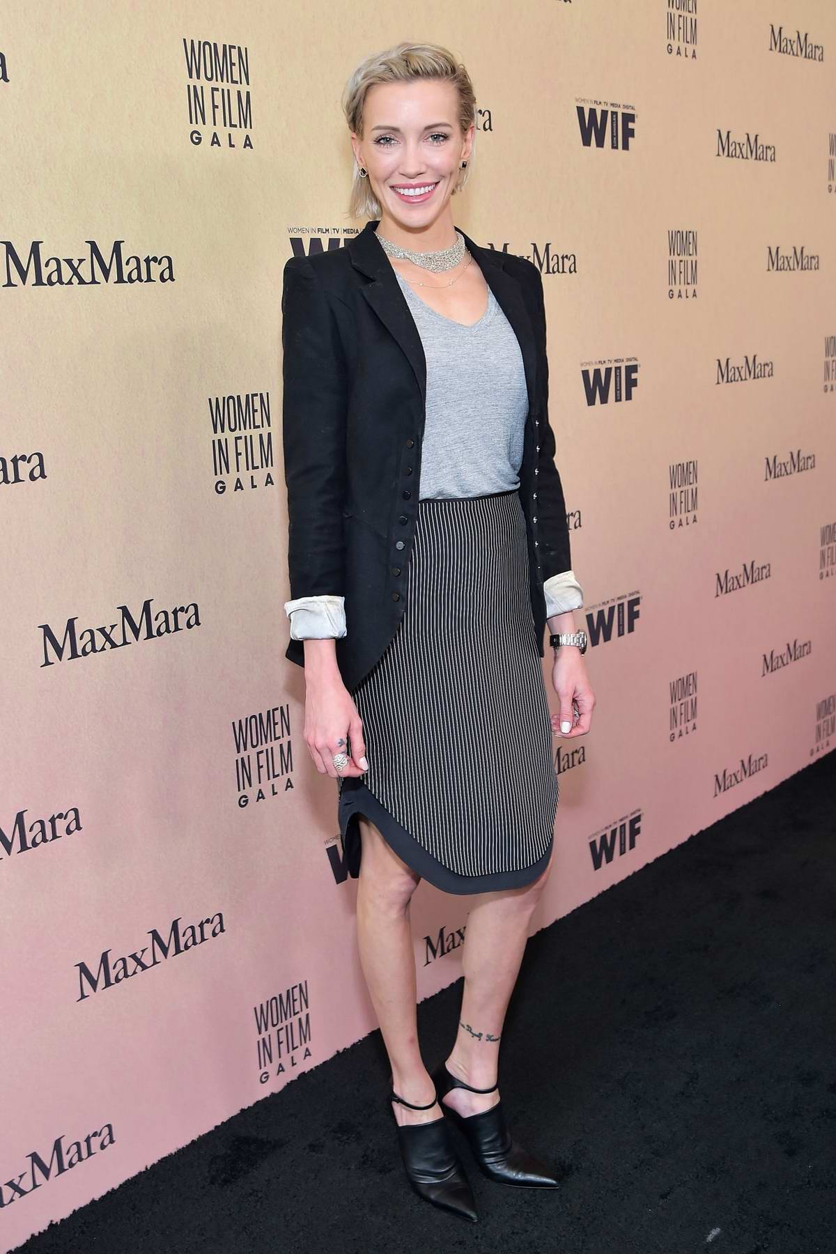 Katie Cassidy attends the Women in Film Annual Gala presented by Max Mara at The Beverly Hilton Hotel in Los Angeles