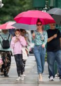 Katie Holmes and Suri Cruise are spotted during a coffee run in New York City