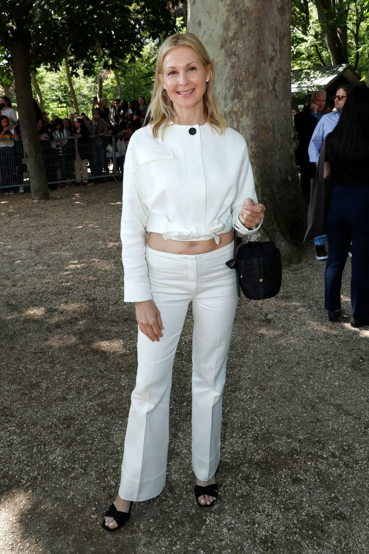 Kelly Rutherford attends the Berluti Menswear Spring/Summer 2020 show during Paris Fashion Week in Paris, France