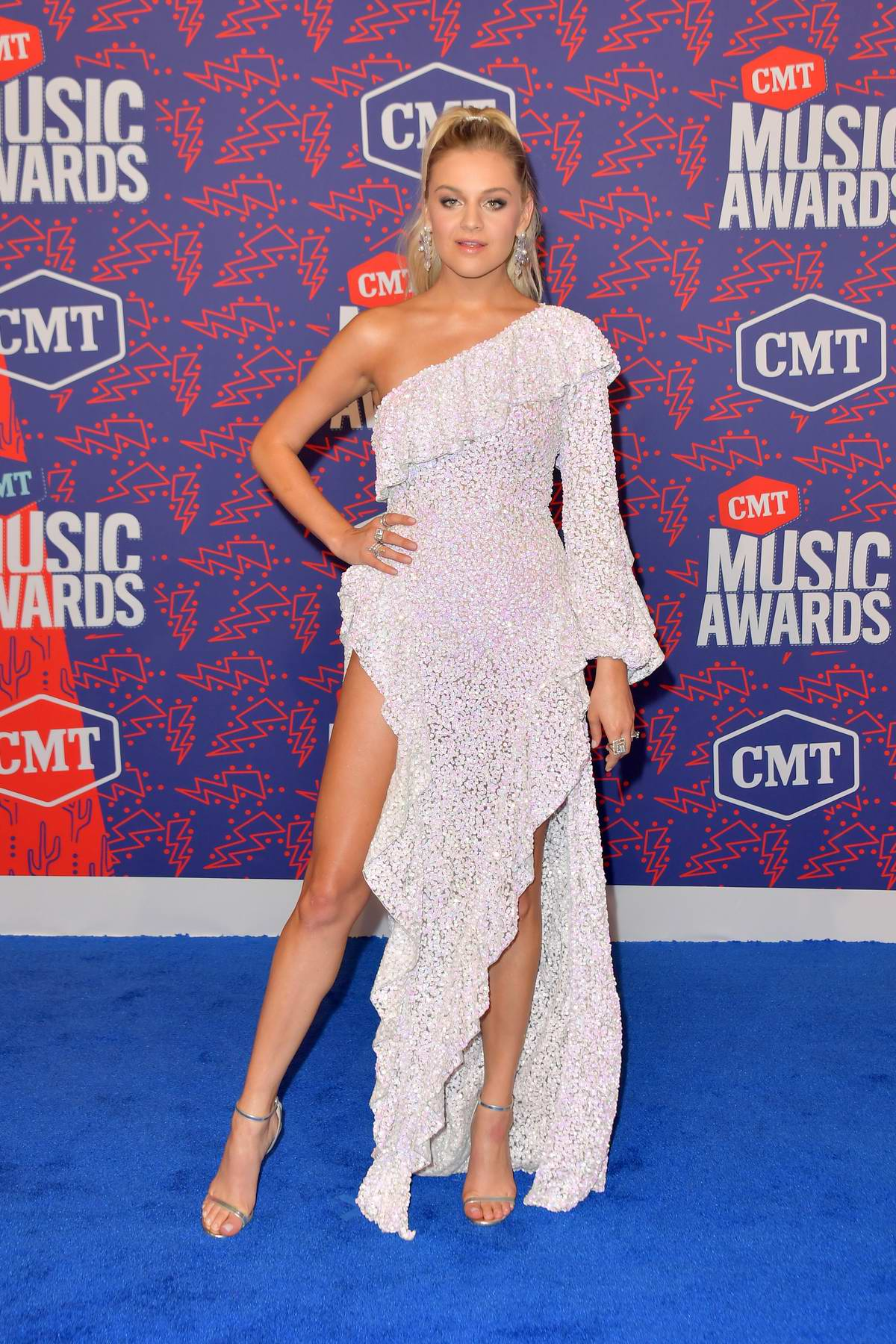 Kelsea Ballerini attends the 2019 CMT Music Awards at Bridgestone Arena in Nashville, TN