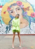 Kendall Jenner at the #PaintPositivity #BecauseWordsMatter mural in Williamsburg in Brooklyn, New York City