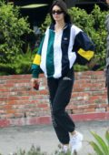 Kendall Jenner sports a casual look while out for brunch with Fai Khadra in Bel-Air, Los Angeles
