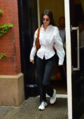 Kendall Jenner steps out in a stylish black and white ensemble in New York City