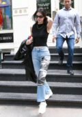 Kendall Jenner stops by luxury vintage shop 'What Goes Around Comes Around' before flying out of New York