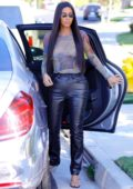 Kim Kardashian spotted while visiting a friend in Beverly Hills, Los Angeles