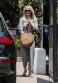 Kirsten Dunst seen leaving a hair salon in Los Angeles