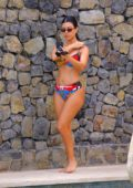 Kourtney Kardashian spotted in a colorful patterned bikini while on vacation in Puntarenas, Costa Rica