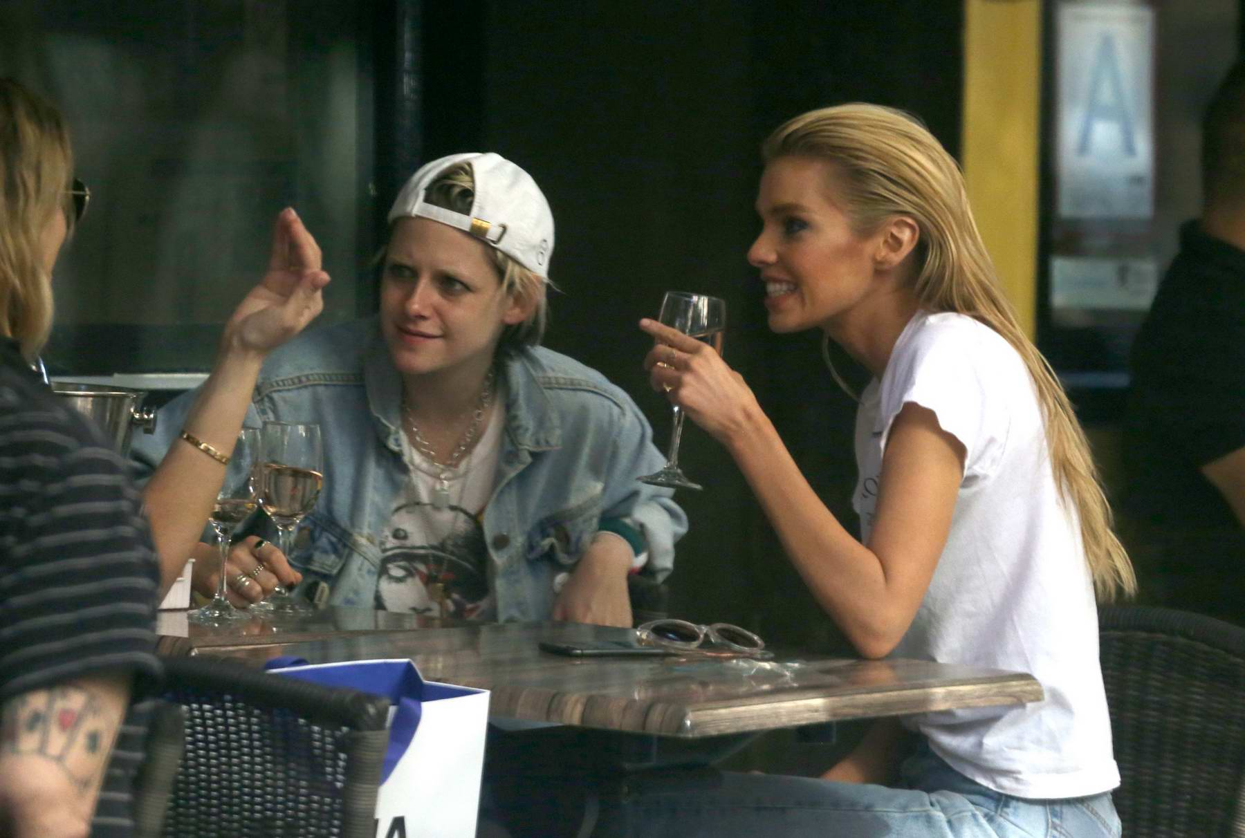 kristen stewart and stella maxwell enjoy a day of shopping and lunch together in new york city ...