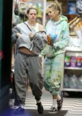 Kristen Stewart and Stella Maxwell stepped out in sweatsuit for a nighttime stroll in New York City